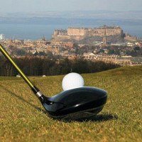 Swanston New Golf Club - view over Edinburgh from the golf course